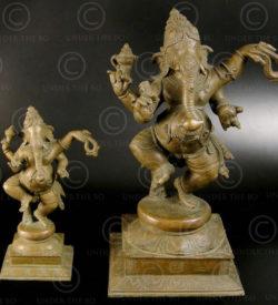 Ganesh dansant bronze 09KB3C. Période des Cholas. Tamil Nadu, Inde du sud.