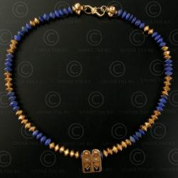 Gold and lapis necklace 247. Designed by François Villaret.