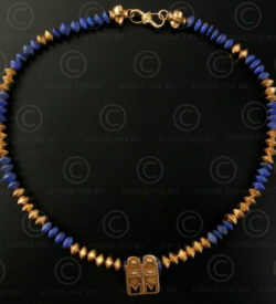 Gold and lapis necklace 247. Designed by François Villaret.