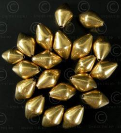 Gold beads BD130. Indian 18K gold. India.