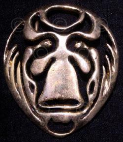 Solid brass belt buckle FB7a. Art Nouveau influenced, Vienna school.