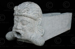 Granite gargoyles 09MM13. Mahabalipuram, Tamil Nadu, southern India.