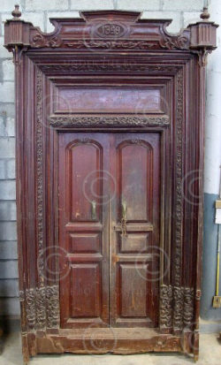 Door H27-02 French colonial. Karikal. South India
