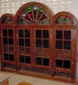 Doors and windows set H2C-00. Kerala, South India