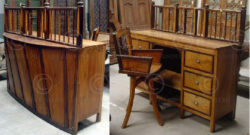 Counter and armchair H31-00 Satinwood and rosewood. India