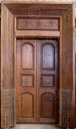 Door H57-02. Chettiar door, Satinwood. South India