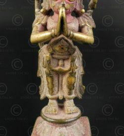 Statuette bronze Hanuman 16P43. Etat du Karnataka, Inde du sud.
