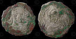 Hephthalite coin C291. White Huns. Afghanistan.
