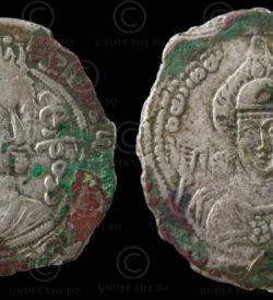 Hephthalite coin C291. White Huns. Afghanistan.