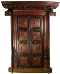 Indian door 08MT2. Teak and rose wood. Andhra Pradesh, Southern India.