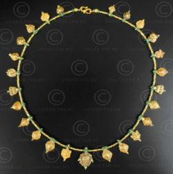 Indian ethnic gold necklace 634. Designed by François Villaret.