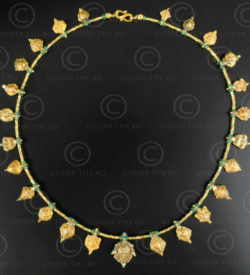 Indian ethnic gold necklace 634. Designed by François Villaret.