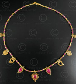 Indian gold and ruby necklace 636. Designed by François Villaret.