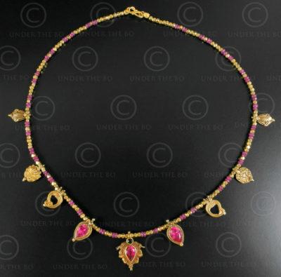 Indian gold and ruby necklace 636. Designed by François Villaret.