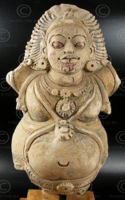 Indian statue C23 Stucco figure, Chettinad, South India