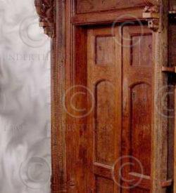 Indian door H21-02. 19th century. South India