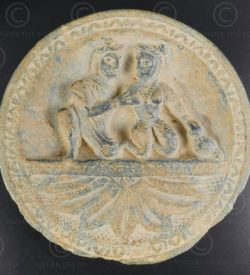 Indo-Parthian grey schist palette PK194B. Ancient kingdom of Gandhara (Pakistan)