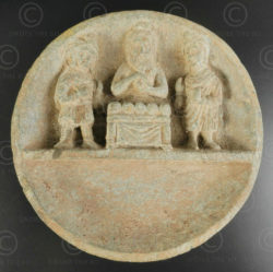 Indo-Parthian grey schist palette PK195A. Ancient kingdom of Gandhara (Pakistan)