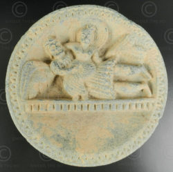 Indo-Parthian grey schist palette PK195B. Ancient kingdom of Gandhara (Pakistan)