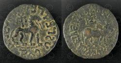 Indo-Scythian bronze coin C312. Nomadic Indo-Scythian, Sakastan-Gandhara.