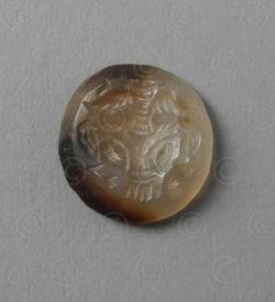 Sceau sassanide calcedoine SH74B. Afghanistan. Empire Sassanide.