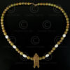Necklace with jade, gold and pearls 572,