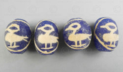 Jatim glass bird beads BD155B. East Java (Java Timor), Indonesia.