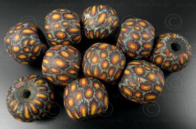 Javanese milifiori beads BD136. East Java, Indonesia.