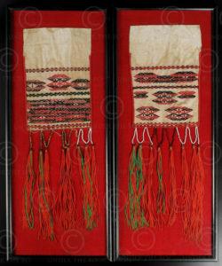 Kachin scarf ends BU39. Jingpao minority, Kachin State, Northen Burma - Yunnan,
