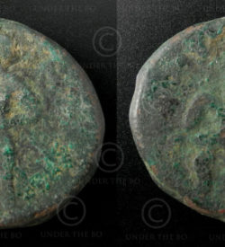 Kushan bronze coin C130B. Kushan Empire.