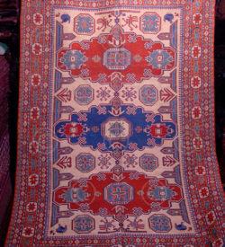 Kazak sumak Z179.  Woven Caucasian carpet.