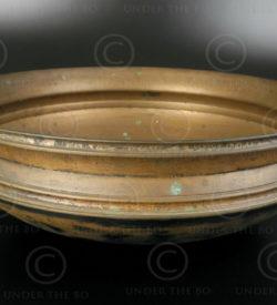 Kerala bronze dish IN632. Kerala state, Southern India.