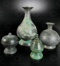 Khmer bronze pots 14KM3. Khmer Empire (Cambodia).