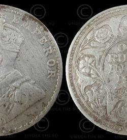 English silver rupee C190B. India, 1919.