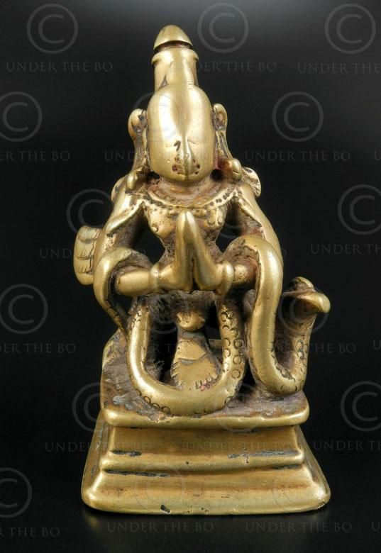 Kneeling Garuda statuette 16P46. Maharashtra state, Southern India.