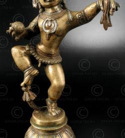 Krishna trois métaux IN612. Uttar Pradesh, Inde du nord.