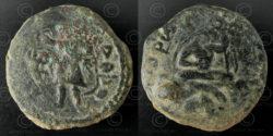 Kushan bronze coin C256. Kushan Empire.