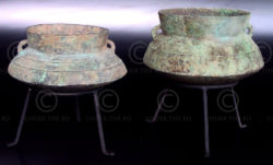 Copper cooking pots LA1.  Laos.