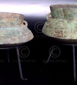 Copper cooking pots LA1.  Laos.