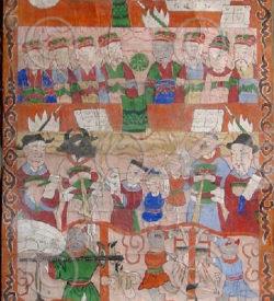 Lantien painting set2o, Southern China or Laos