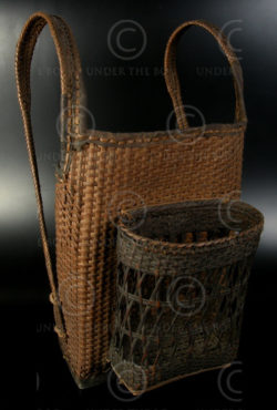 Laotian backpack LA20. Kammu, North-West Laos. Mid 20th century.
