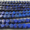Lapis beads NBD4C. Afghan lapis lazuli, cut in India.