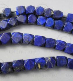 Lapis beads NBD4. Afghan lapis lazuli, cut in India.