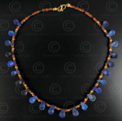 Lapis spoons necklace 620. Designed by François Villaret.