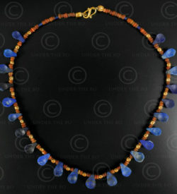Lapis spoons necklace 620. Designed by François Villaret.