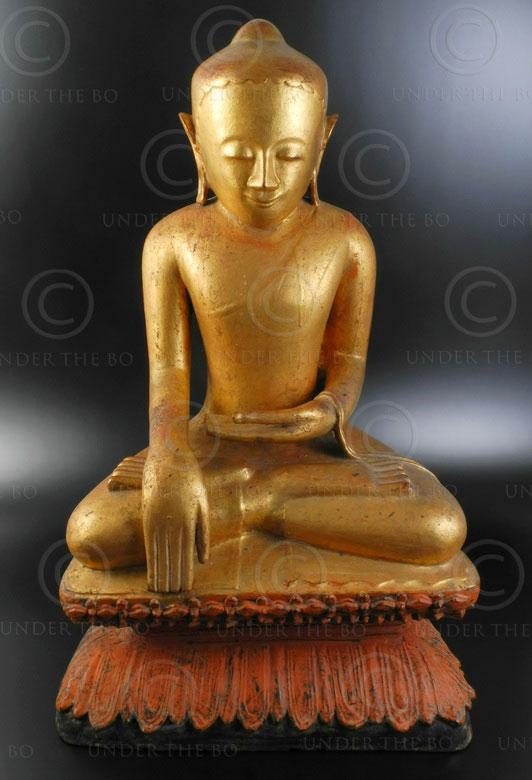 Large Burmese Buddha BU357. Pinya kingdom period style. Burma.