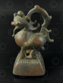 Lion Asian weight OP149. Bronze opium weight depicting a toe (griffin or lio