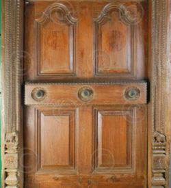 Madras Door H6-00 Teakwood. 19th century. South India