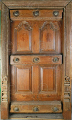 Madras Door H6-00 Teakwood. 19th century. South India