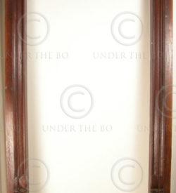 Madras door frame 08MT16D. Teak wood. Madras, Southern India.